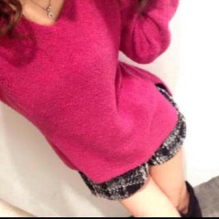 デイライルノアール(Delyle NOIR)の新品♡Delyle♡Vネックアイスニットトップス&ラップツイードショートパンツ(ショートパンツ)