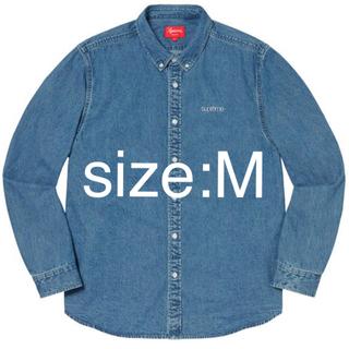 シュプリーム(Supreme)のM Supreme Denim Shirt Blue シュプリーム デニム 新品(シャツ)