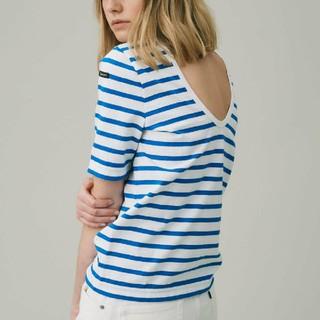 トゥモローランド(TOMORROWLAND)のバックオープンボーダーカットソー 半袖(Tシャツ(半袖/袖なし))