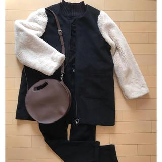 しまむら - しまむらのファーコート + まん丸2wayバッグ