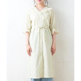one after another NICE CLAUP - 新品 NICE CLAUPオーバーレース刺繍前あきワンピ