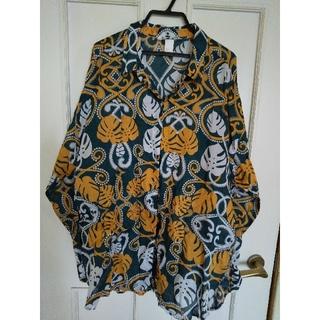 ZARA - エイチアンドエムボタニカル柄のシャツ38サイズ