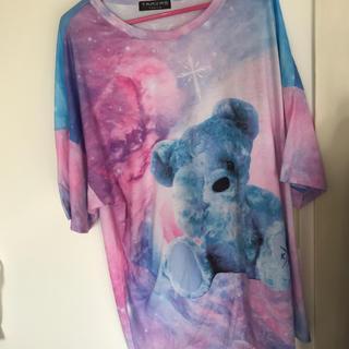 フーガ(FUGA)のTRAVAS TOKYO くま 宇宙柄 Cosmic bear BIG Tシャツ(Tシャツ/カットソー(半袖/袖なし))