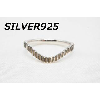 【R-435】SILVER 925 Vライン デザイン リング 指輪 11号(リング(指輪))