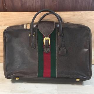 グッチ(Gucci)のGUCCI オールドグッチ ヴィンテージ スクエア旅行バッグ(トラベルバッグ/スーツケース)