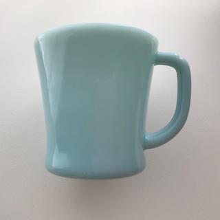 ファイヤーキング(Fire-King)のFire-king ファイヤーキング ターコイズブルー Dハンドル マグカップ(グラス/カップ)