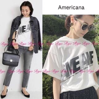 DEUXIEME CLASSE - 18SS★1回美品⭐️アメリカーナ/ロゴ Tシャツ AME Tシャツ/ホワイト