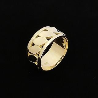 リーフのモチーフが素敵な金のリング♥️ K18YG(リング(指輪))