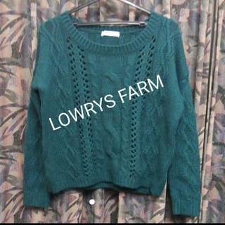 ローリーズファーム(LOWRYS FARM)のローリーズファーム/肉厚ざっくりケーブル編みゆったりニット(ニット/セーター)