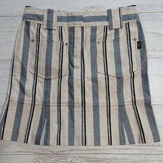 ルイヴィトン(LOUIS VUITTON)のルイヴィトン ストライプ立体縫製スカート(ミニスカート)