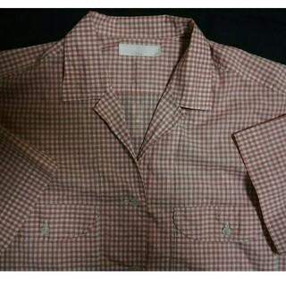 ピンクハウス(PINK HOUSE)のピンクハウス サーモンピンクギンガムチェックシャツ(シャツ/ブラウス(半袖/袖なし))