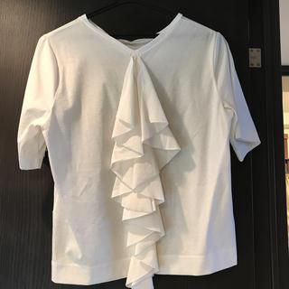 ルシェルブルー(LE CIEL BLEU)のルシェルブルー バックフリルTシャツ 38(Tシャツ(半袖/袖なし))