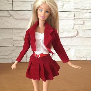 1点限り★ドール用 ジャケット&インナー プリーツスカート バービー人形 達に♪