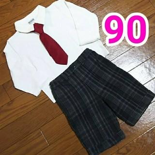 シマムラ(しまむら)のシャツ、半ズボン、ネクタイ、靴下 4点セット(ドレス/フォーマル)
