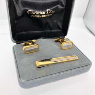 クリスチャンディオール(Christian Dior)の未使用 CD クリスチャンディオール カフス ネクタイピン セット 正規品(ネクタイピン)