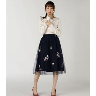 WILLSELECTION - WILLSELECTION♡刺繍チュールスカート