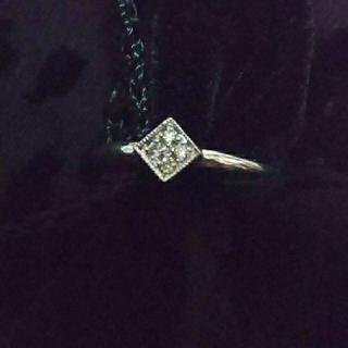 アム K18WG ダイヤリング visetto  (リング(指輪))