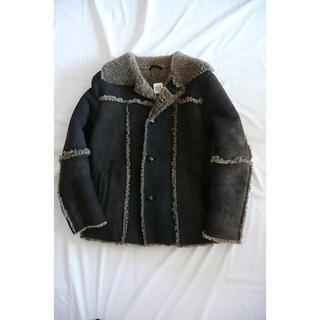 COMME CA MEN - コムサ COMME CA 最高級 リアルムートン 羊毛皮 ハーフコー M 美品