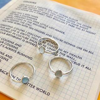 天然石 カルセドニー、シルバーリング(リング(指輪))