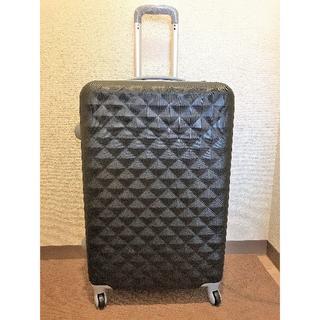 ☆新品☆ 軽量スーツケースLダイヤ柄 伸縮ハンドル2段階ブラック
