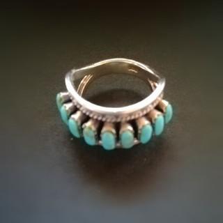 ズニ族シルバーターコイズリング(リング(指輪))