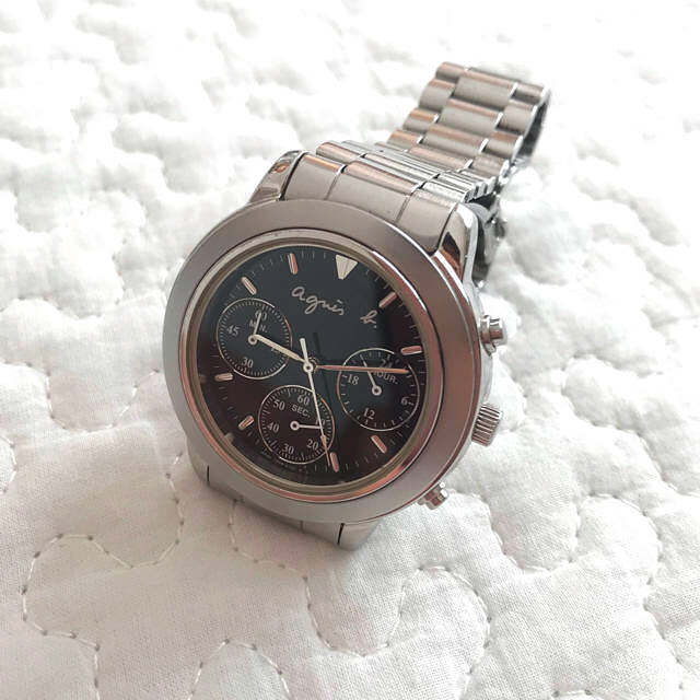 agnes b. - 【美品】Agnes b. chronograph 腕時計 クロノグラフの通販 by Unknown's shop