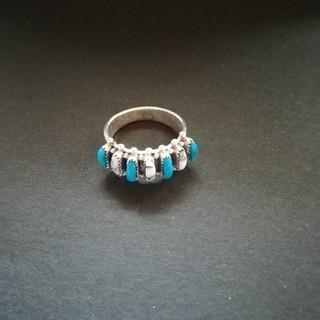 ズニ族シルバーピアス(リング(指輪))