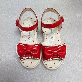 シャーリーテンプル(Shirley Temple)の♡ゆあ♡様専用♥シャーリーテンプル♥サンダルセット♥赤&白♥13-15cm(サンダル)
