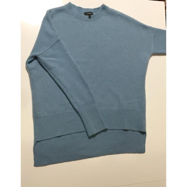 theory(セオリー)の綺麗 セオリー カシミヤ100% ニット S オーバーサイズ 水色 セーター  レディースのトップス(ニット/セーター)の商品写真