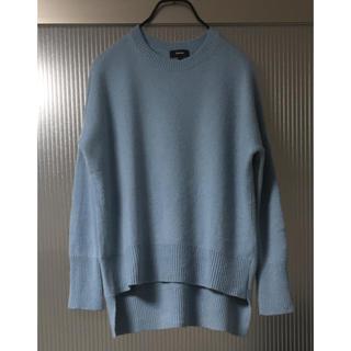 theory - 綺麗 セオリー カシミヤ100% ニット S オーバーサイズ 水色 セーター