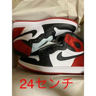 NIKE - NIKE AIR JORDAN 1 SATIN BLACK TOE AJ1