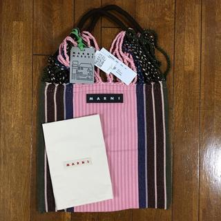 Marni - 新品 MARNI FLOWER CAFE ハンモック バッグ  ピンク