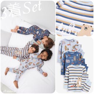ネクスト(NEXT)のNEXT☆ブルー・森の動物パジャマ3着セット(パジャマ)