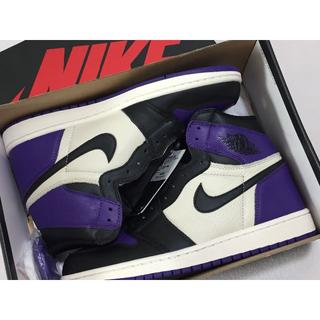 ナイキ(NIKE)の特価28cm AIR JORDAN 1 HIGH OG COURT PURPLE(スニーカー)