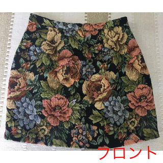 マーキュリーデュオ(MERCURYDUO)のマーキュリーデュオ 花柄 ゴブランスカート(ミニスカート)