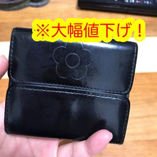 マリークワント(MARY QUANT)の【使用品】マリークウワント 折りたたみ三つ折り財布(折り財布)