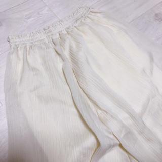 ナチュラルクチュール(natural couture)のワッシャープリーツスカート(ロングスカート)
