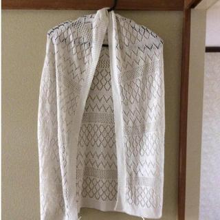 エービーシーデザイン(ABC Design)のラメ入り白 レース 羽織もの☆(カーディガン)