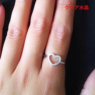 【11号:1点】     ハートモチーフ 水晶 SV925 リング(リング(指輪))