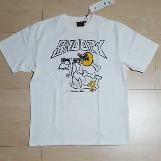 スヌーピー(SNOOPY)のローブローナックル×スヌーピー Tシャツ ウッドストック ロウブロウナックル(Tシャツ/カットソー(半袖/袖なし))