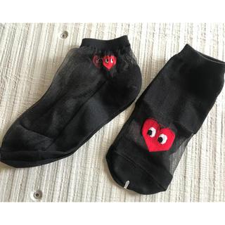 コムデギャルソン(COMME des GARCONS)の新品☆韓国靴下☆二足セット☆送料込み☆人気商品(ソックス)