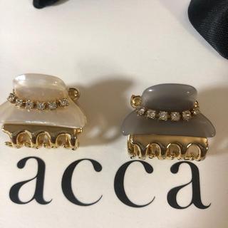 acca - アッカacca クリスタルチェーン付きミニクリップ