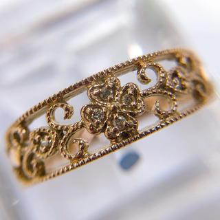 透かしデザイン K10PG ダイヤモンド リング(リング(指輪))