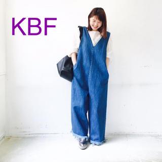 ケービーエフ(KBF)のKBF デニムオールインワン【美品】(オールインワン)