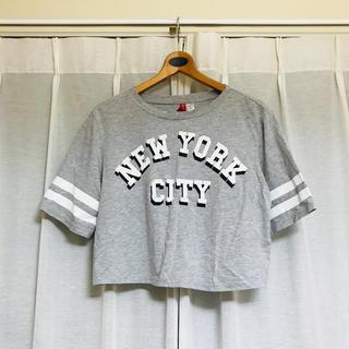 エイチアンドエム(H&M)の最終値下げ! エイチアンドエム 5分丈 ロゴTシャツ 半袖Tシャツ(Tシャツ(半袖/袖なし))