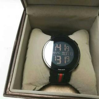 Gucci - GUCCIグッチ近未来的デジタルウォッチ可動品です時計