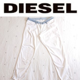 ディーゼル(DIESEL)のDIESEL ホワイトジーンズ ストレッチ 32インチ(デニム/ジーンズ)