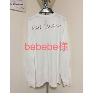 ホリデイ(holiday)のholiday スーパーファインロングスリーブTシャツ ①(Tシャツ(長袖/七分))