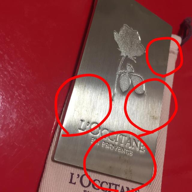 L'OCCITANE(ロクシタン)の難あり‼︎ ロクシタン ローズ ミニミラー レディースのファッション小物(ミラー)の商品写真