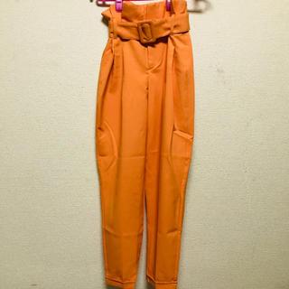 Bershka - Bershka パンツ オレンジ